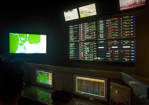Panama, Province Of Panama, Panama City, Control Room At Miraflores Locks