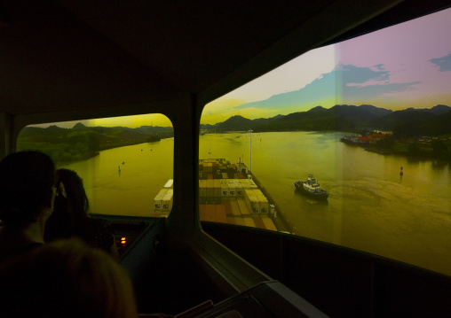 Panama, Province Of Panama, Panama City, Navigation Simulator In Miraflores Locks Canal
