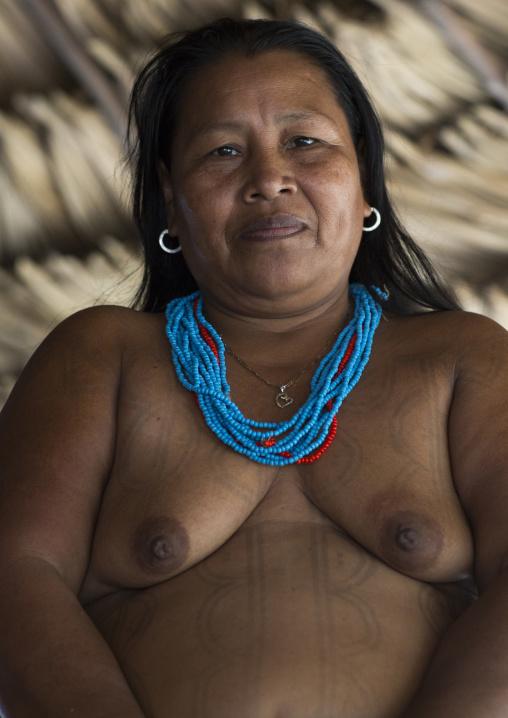 Panama, Darien Province, Puerta Lara, Woman Of Wounaan Native Community