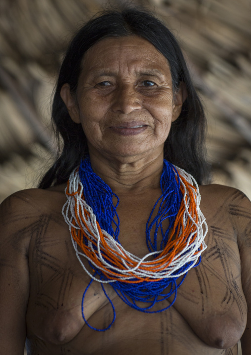 Panama, Darien Province, Puerta Lara, Woman Of Wounaan Native Community