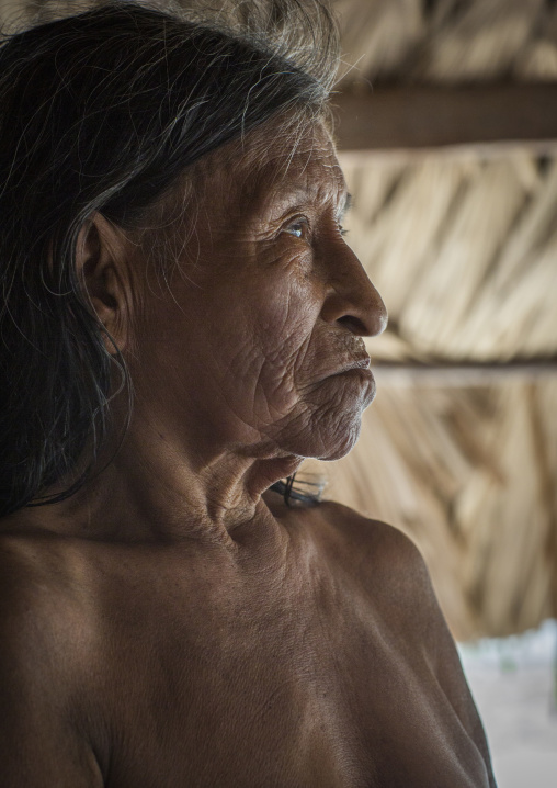 Panama, Darien Province, Puerta Lara, Old Woman Of Wounaan Native Community