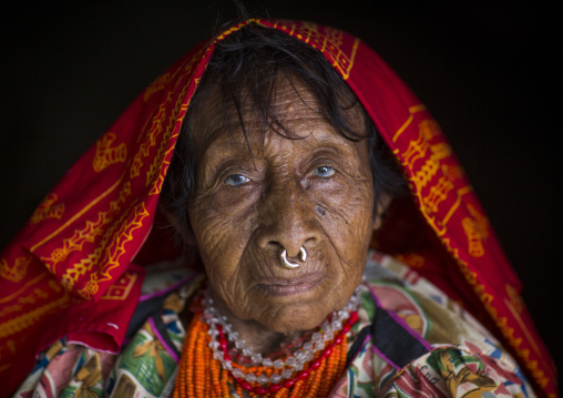 Panama, San Blas Islands, Mamitupu, Portrait Of An Old Kuna Tribe Woman