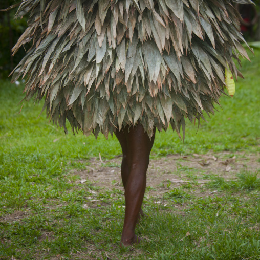 Duk duk during a Tubuan dance, East New Britain Province, Rabaul, Papua New Guinea