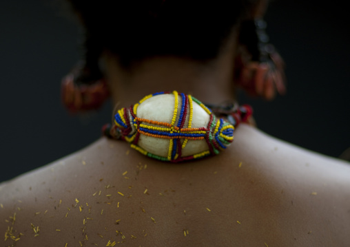 Shell necklace of a female tribal dancer , Milne Bay Province, Trobriand Island, Papua New Guinea