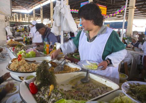 Food Stall In The Market, Cuzco, Peru