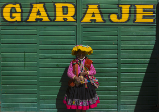 Woman In Traditional Clothing, Qoyllur Riti Festival, Ocongate Cuzco, Peru