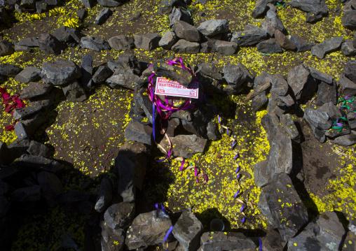 Small Stone Houses And Plots, Qoyllur Riti Festival, Ocongate Cuzco, Peru