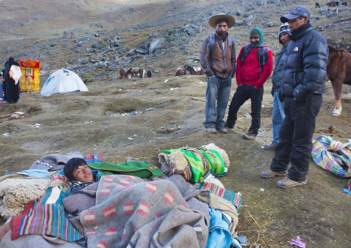 Man Waking Up, Qoyllur Riti Festival, Ocongate Cuzco, Peru