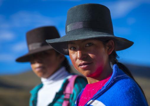 Girls With Hats, Cuzco, Peru