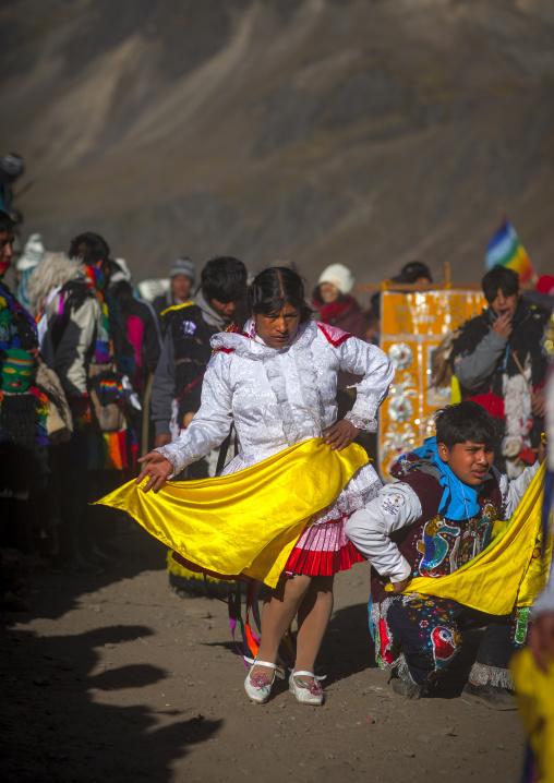 Procession And Dances During Qoyllur Riti Festival, Ocongate Cuzco, Peru