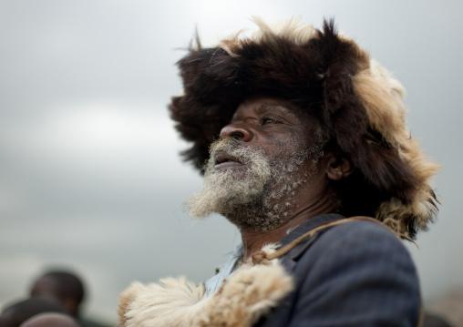 Intore witchdoctor, Lake Kivu, Ibwiwachu, Rwanda
