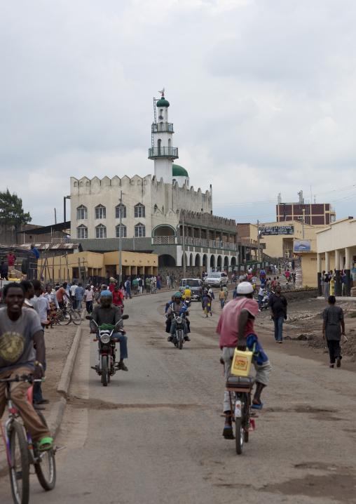 Road leading to the mosque, Lake Kivu, Gisenye, Rwanda