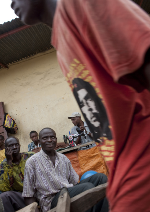 Rwandan tailors in the market, Lake Kivu, Gisenye, Rwanda