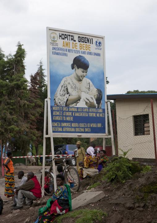 Billboard for a maternity hospital, Lake Kivu, Gisenye, Rwanda