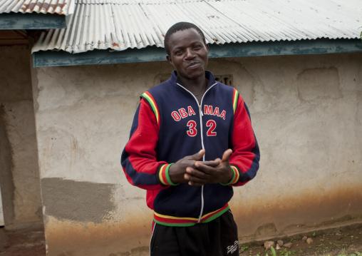 Man in brasserie area in gisenye village - rwanda