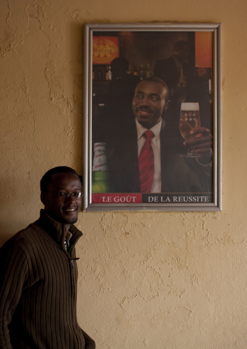 Rwandan man in a bar, Western Province, Karongi, Rwanda