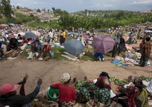 Crowded market, Kigali Province, Kigali, Rwanda