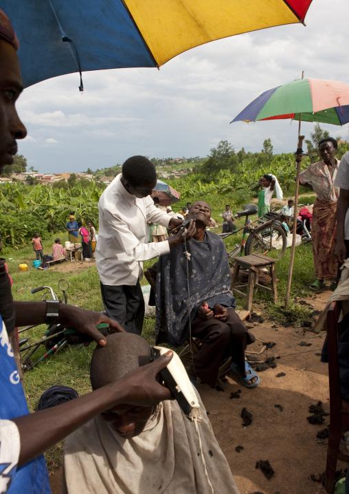 Barber shop in a market, Kigali Province, Kigali, Rwanda