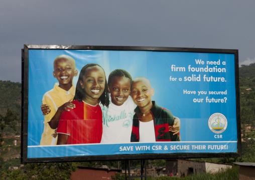 Social security advertisement billboard, Kigali Province, Kigali, Rwanda