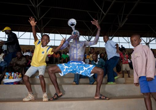 Fans during a football match, Kigali Province, Kigali, Rwanda