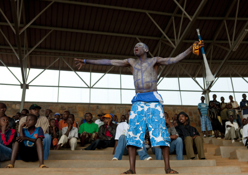 Fans in football match in kigali stadium - rwanda