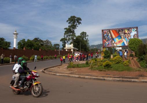Advertisements billboards in the streets, Kigali Province, Kigali, Rwanda