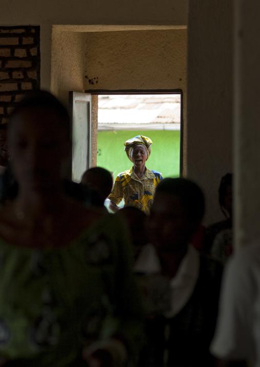 Rwandan people during a sunday mass in a church, Kigali Province, Kigali, Rwanda