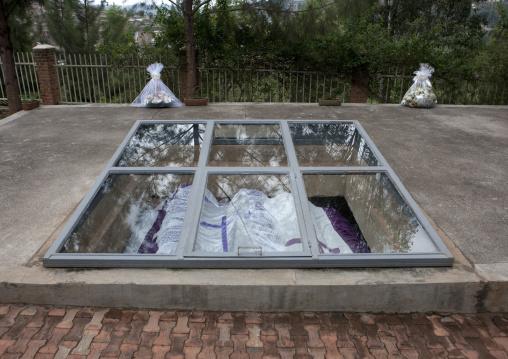 Graves in gisozi genocide memorial site, Kigali Province, Kigali, Rwanda