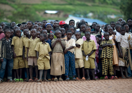 Audience at hip hop show in a village, Kigali Province, Nyirangarama, Rwanda