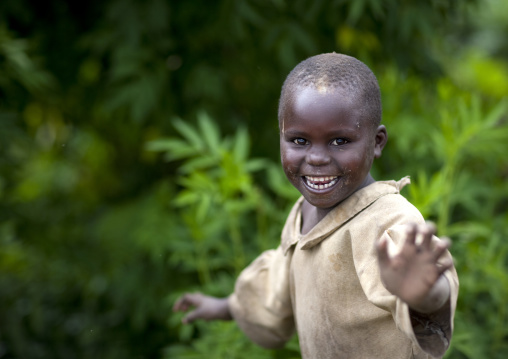 Smiling boy in volcanoes national park, Northwest Province, Rehengeri, Rwanda