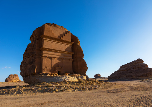 Qasr al-Farid tomb of Lihyan son of Kuza in Madain Saleh, Al Madinah Province, Alula, Saudi Arabia