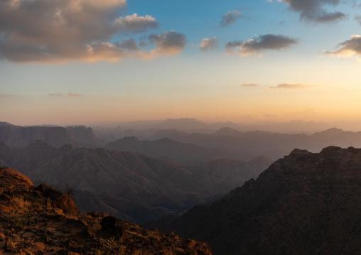 Mountainous landscape, Asir province, Dahran Aljanub, Saudi Arabia