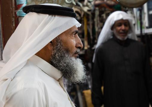 Saudi men wearing shemaghs, Najran Province, Najran, Saudi Arabia