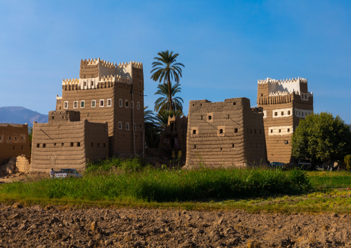 Traditional old multi-storey mud houses, Najran Province, Najran, Saudi Arabia
