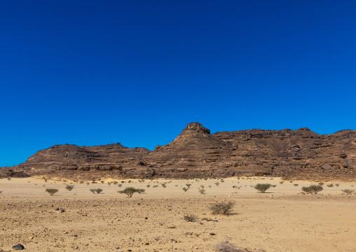 Hill in the desert where can be found ot of petroglyphs, Najran Province, Thar, Saudi Arabia