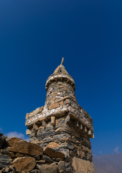 Mosque in Dhee Ayn marble village, Al-Bahah region, Al Mukhwah, Saudi Arabia