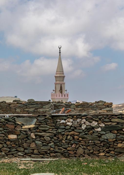 Mosque in al-Namas, Al-Bahah region, Altawlah, Saudi Arabia