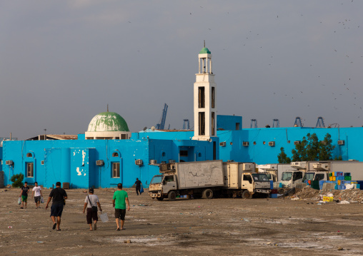 Mosque in the fish market, Mecca province, Jeddah, Saudi Arabia