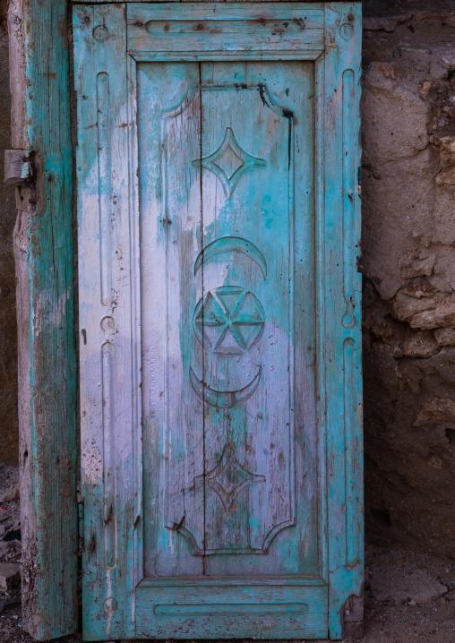 Ahmed Munawar Refa house wooden door, Red Sea, Farasan, Saudi Arabia