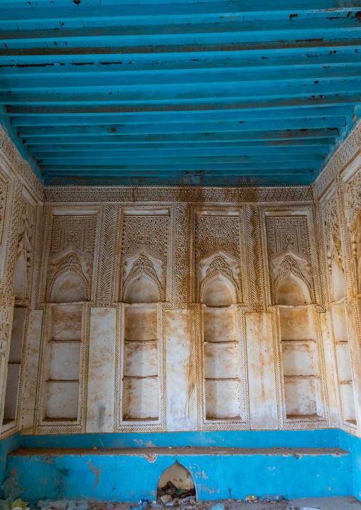 Niches in an old farasani house majlis, Red Sea, Farasan, Saudi Arabia