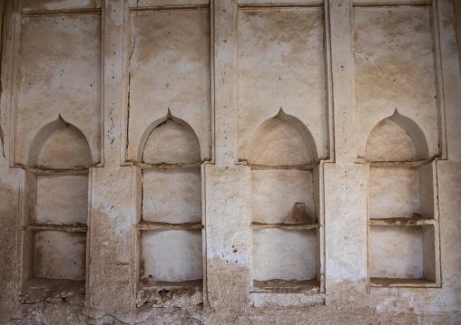 Gypsum decoration of the niches in a farasani house, Red Sea, Farasan, Saudi Arabia