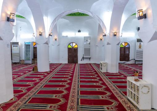 Al Nadji mosque pillars, Red Sea, Farasan, Saudi Arabia