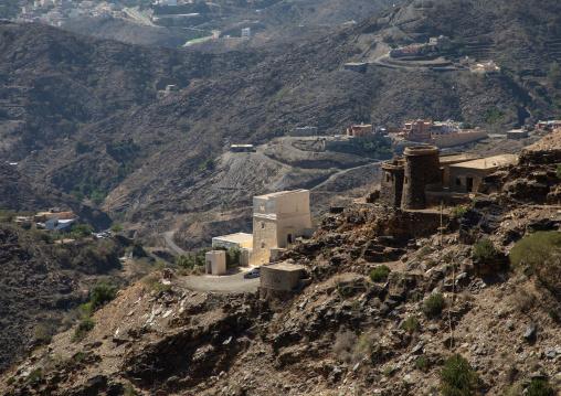 Old stone houses in the mountains, Jizan Province, Addayer, Saudi Arabia