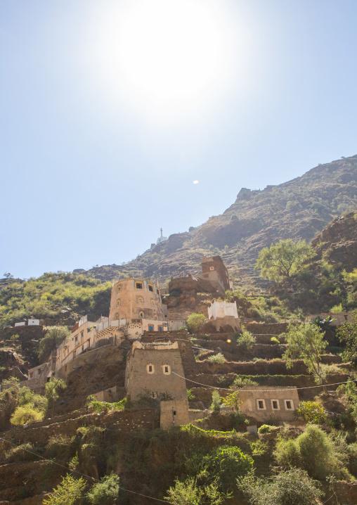 Old village of traditional mud houses, Jizan Province, Addayer, Saudi Arabia