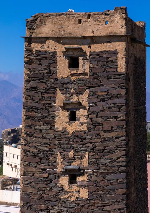 Stone watchtower, Jizan Province, Addayer, Saudi Arabia