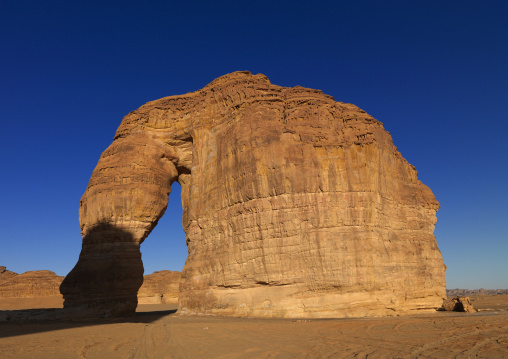 Elephant rock in madain saleh archaeologic site, Al Madinah Province, Alula, Saudi Arabia