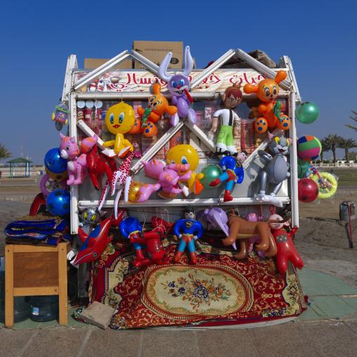 Beach toys shop, Mecca province, Jeddah, Saudi Arabia