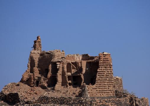 Old house in ruins, Asir province, Sarat Abidah, Saudi Arabia