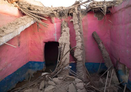 Ruins of a former house, Najran Province, Najran, Saudi Arabia