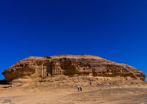 Nabataean tomb in madain saleh archaeologic site, Al Madinah Province, Al-Ula, Saudi Arabia